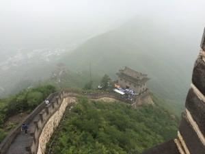 China- Great Wall - Coming back down