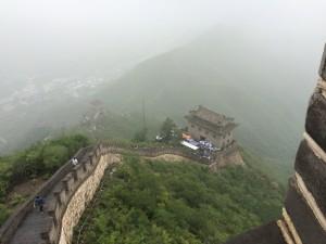 China- Great Wall - Coming back down