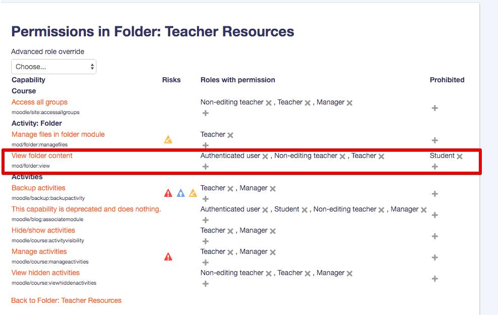 Permissions in Folder