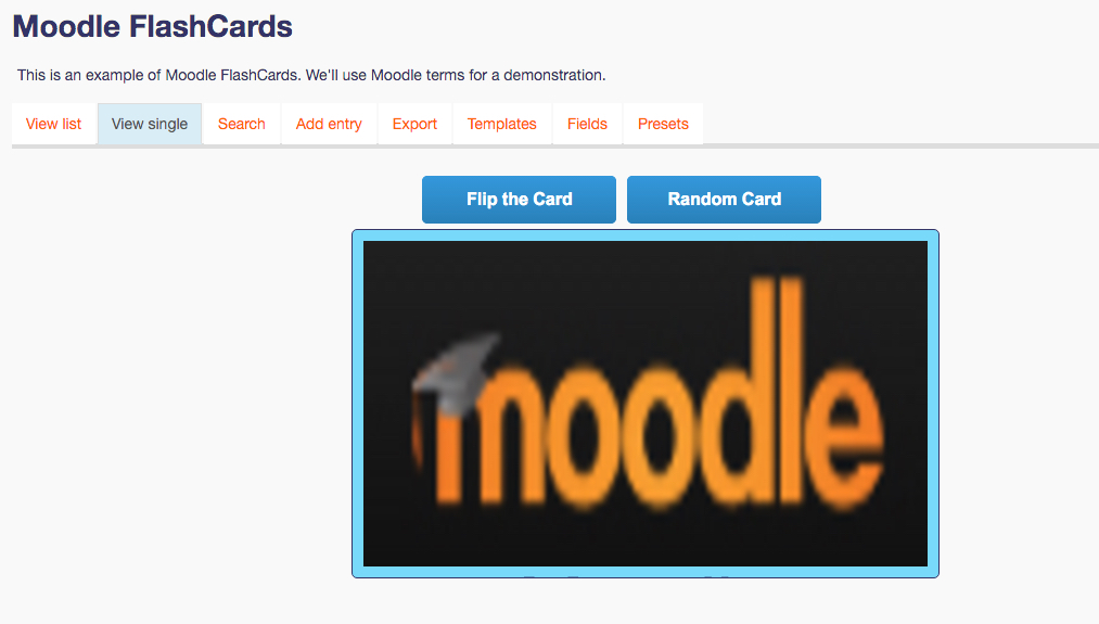 DB Ideas: Moodle FlashCards 2016-04-28 21-00-59